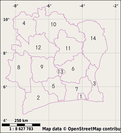 Districts of Ivory Coast