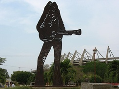 Statue of Shakira at Barranquilla, Colombia in March 2008