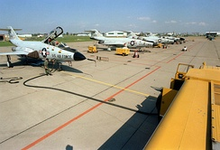 1981 tarmac of NFAFB with NYANG McDonnell F-101 Voodoos.
