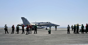 FA-18C Fighter Iraq Airstrikes August 7 2014.JPG