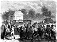 Execution of the Girondins, woodcut from 1862