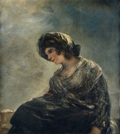 The Milkmaid of Bordeaux, 1825–27, is the third and final Goya portrait which may depict Leocadia Weiss.[51]