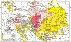 Growth of the Habsburg Empire in Central Europe