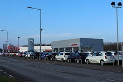 A Honda Dealership in Dreghorn, Scotland