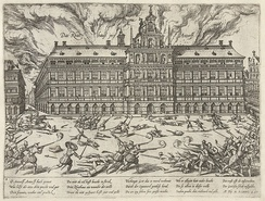 The Sack of Antwerp in 1576, in which about 7,000 people died