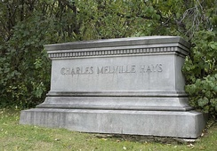C.M. Hays' tombstone in Montreal