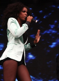 Rowland performing in Sydney during Supafest, April 2012
