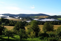 Northern Czech landscape during a summer morning