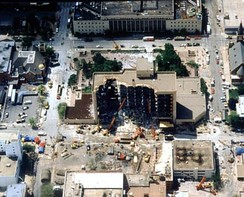 The Murrah Federal Building after the attack