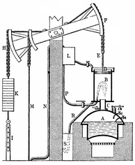 Newcomen's steam-powered atmospheric engine was the first practical piston steam engine. Subsequent steam engines were to power the Industrial Revolution.