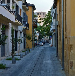 Scheme for new pedestrianized streets in old Nicosia implemented after 2004