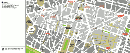 Map of the 2nd arrondissement
