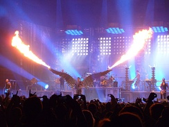 "Rammstein playing ""Engel"" in Madison Square Garden (11 December 2010)"