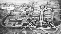 Original 1914 plan of the UBC campus, by architects Sharp and Thompson