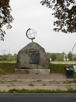 The monument 'The 15th Meridian' in Stargard, Poland