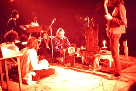 Example of a Nikon Photomic FTn image – Timothy Leary, family, and band (1969).