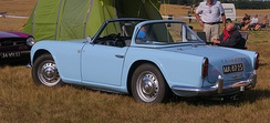 Triumph TR4, the first volume-manufactured Sedanca style body (later commonly called Targa)