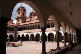 Old campus of the colonial university San Antonio Abad in Cusco, Peru