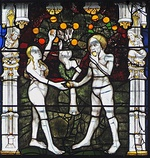 "Detail from the Great East Window, ""Adam and Eve, the Fall from Grace"""