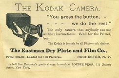 An advertisement from The Photographic Herald and Amateur Sportsman (November 1889)