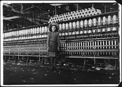 Child laborer at Roanoke Cotton Mills, 1911. Photo by Lewis Hine.