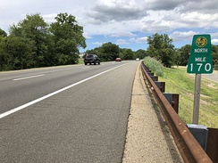 The Garden State Parkway northbound in Woodcliff Lake