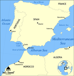 Map of the Alboran Sea