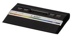 "The Atari 2600 in its 1986 cost-reduced version, nicknamed ""2600 Jr.""."