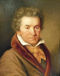 Beethoven in 1815 portrait by Joseph Willibrord Mähler