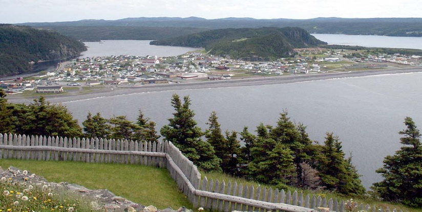 Placentia as viewed from the site of a former fortress, now a national historic site