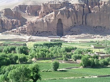 Bamian Valley - UNESCO World Heritage listed site in Afghanistan, showing destroyed Buddha statue.