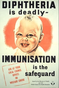 A poster from the United Kingdom advertising diphtheria immunisation (published prior to 1962)