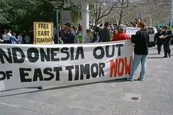 September 1999 demonstration for independence from Indonesia