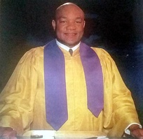 Foreman as reverend at the Church of the Lord Jesus Christ, 1994