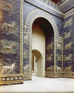 The Ishtar Gate of Babylon as reconstructed in the Pergamon Museum in Berlin