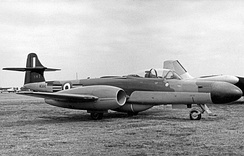 Gloster Meteor NF.14 of 264 Squadron in 1955