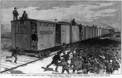 The Great Southwest Railroad Strike of 1886 was a trade union strike involving more than 200,000 workers[64]