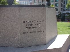 Inscription «If you work hard good things will happen» by Charles Gwynn, Tony Gwynn's father