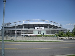 Invesco Field at Mile High, where Senator Barack Obama gave his acceptance speech