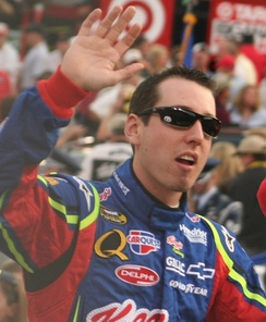 Race winner Kyle Busch in 2007