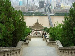 View on Zhongshan Bridge from Baita Mountain Park