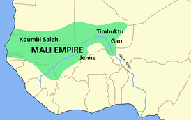 The Mali Empire at its greatest extent, c. 1350