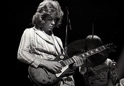 Mick Taylor (pictured in 1972) is, in part, responsible for the Stones' new sound in the early 1970s. Replacing Brian Jones in 1969, Taylor came from John Mayall's Bluesbreakers and was a member of the Stones until 1974
