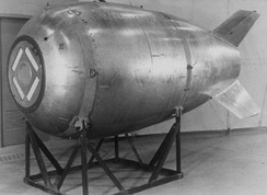 Mark 4 bomb, seen on display, transferred to the 9th Bombardment Wing, Heavy