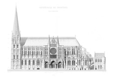 South elevation by Jean-Baptiste Lassus (1867).