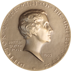 Ross, as seen on her Mint medal designed by Chief Engraver John R. Sinnock