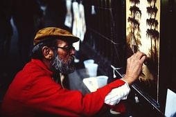 Street artist in the French Quarter (1988)