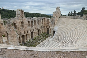The Odeon of Herodes Atticus in Athens, built in 161 AD