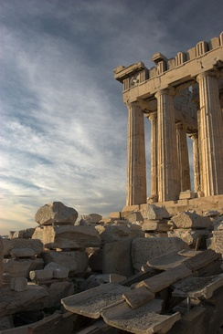 The Parthenon, an ancient Athenian Temple on the Acropolis (hill-top city) fell to Rome in 176 BC