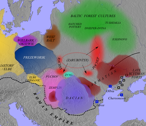 'Archaeological cultures' in the early Roman period, c. 100 AD